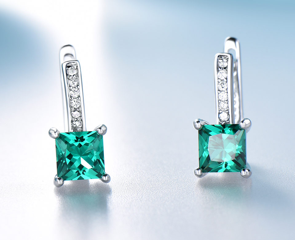 UMCHO-Emerald-925-sterling-silver-clip-earrings-for-women-EUJ060E-1-PC_03