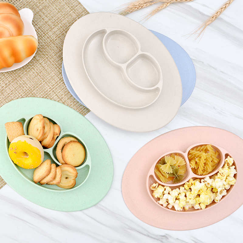 Baby Wheat Straw Bowl Material Baby Dining Plate Health Lovely Smile Face Lunch Tableware Kitchen Fruit Dishes Children Bowl