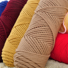 3 Pcs / Lot Natural Soft Silk Milk Cotton Yarn Thick For hand Knitting Baby Wool crochet scarf coat Sweater weave thread