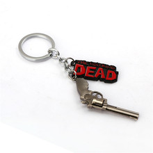 JM Jewelry Hot Film The Walking Dead Daryl Crossbow Keychain Metal 7cm Pendant Key Rings ChaveiroCustom Key Chain Car JM11100