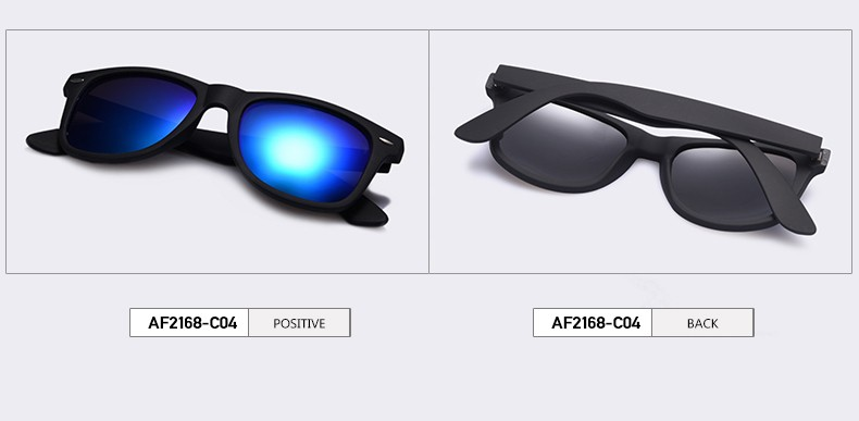 compare blue and black sunglasses