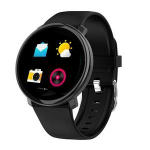 Image 2 - M31 homem inteligente monitor de freqüência cardíaca relógio esporte fitness rastreador pulseira tela cheia toque multi lingual smartwatch para android ios