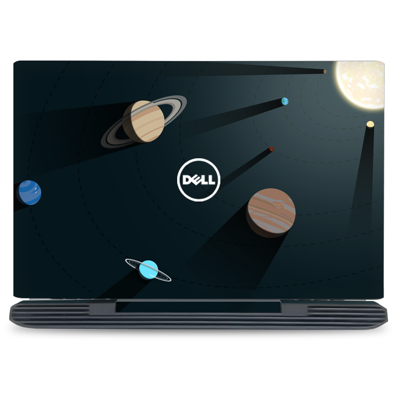 GOOYIYO - 2019 Hot Laptop Sticker Top Vinyl Decal Cartoon Color Print Skin For Dell Inspiron 7577 15 Inch Front Skin