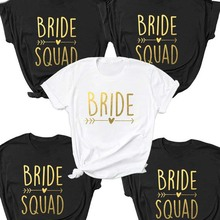 Bachelorette Bride Party Shirt Bride Squad Arrow Heart T-Shirt Feminine Slogan grunge Tops