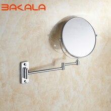 8 дюймов хром 3X увеличительное зеркало для макияжа 2 стороны отеля ванная комната стены 360 поворотные косметические зеркала с удлиняющими дужками upto