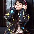 2017 Meninas Novas Outono Estrelas Jaqueta Casaco De Impressão Crianças Outerwear Meninos Jaquetas Blusão Bebê Roupa Dos Miúdos Crianças Roupas 18 M-5 T