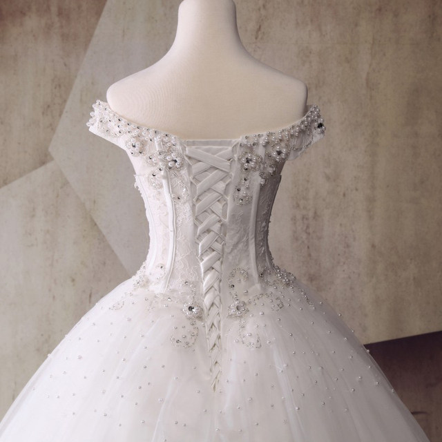 Online Shop See Through Corset Style Princess Wedding Dresses 2017 ...