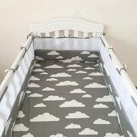 (1 pcs pare-chocs seulement) tour de lit lit bébé, lit bébé bumper mode clauds/étoiles/arbre couronne respirant Maille protection de lit bébé