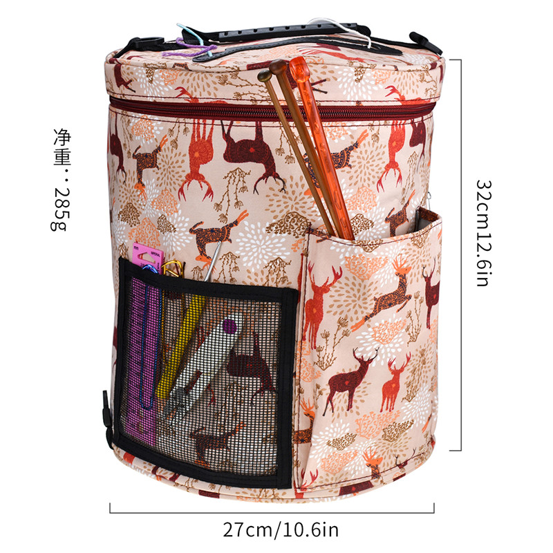 Image 4 - KOKNIT 14 Styles Knitting Bag Yarn Organizer Bag For Wool Crochet Hooks Knitting Needles Sewing Set DIY Yarn Balls Storage Bag-in DIY Knitting from Home & Garden