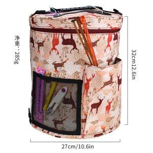 Image 4 - KOKNIT 14 Styles Knitting Bag Yarn Organizer Bag For Wool Crochet Hooks Knitting Needles Sewing Set DIY Yarn Balls Storage Bag