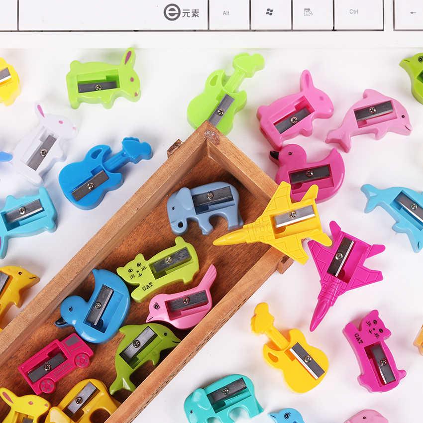 8 個かわいい鉛筆削り漫画プラスチックカッターナイフ学習文房具学生