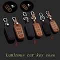 Leather car Key fob case cover for VW Golf bora Jetta MK5 MK6 MK7 CC Tiguan Passat B6 B7 Scirocco key chain holder bag Accessory