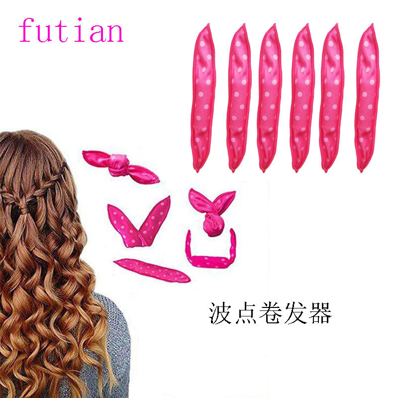 Купить с кэшбэком 10Pcs/Set Hot sale Magic Pillow Soft Roller Hair Best Flexible Foam and Sponge Sleep Hair Curlers DIY Styling Hair Rollers Tool