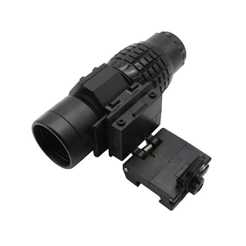 Тактический 3x лупа прицел с увеличением охотничий прицел для крепление оптического прицела винтовки подходит голографический и рефлекторный прицел для Игрушечного Пистолета