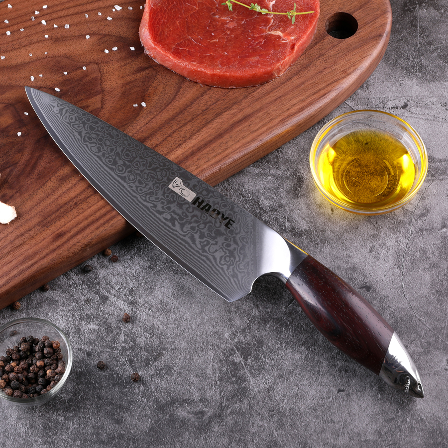 Damascus Chefs Knife Japanese 67 Layers Vg10 Steel Kitchen Knives Profesional Wide Blade Sandalwood Handle Luxury Gyuto 2019 NEW