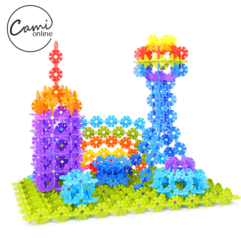 300pcs Snowflake Building Puzzle Toy DIY Assembling Classic Early Educational Learning Toys Baby Intelligence Development Tool все цены