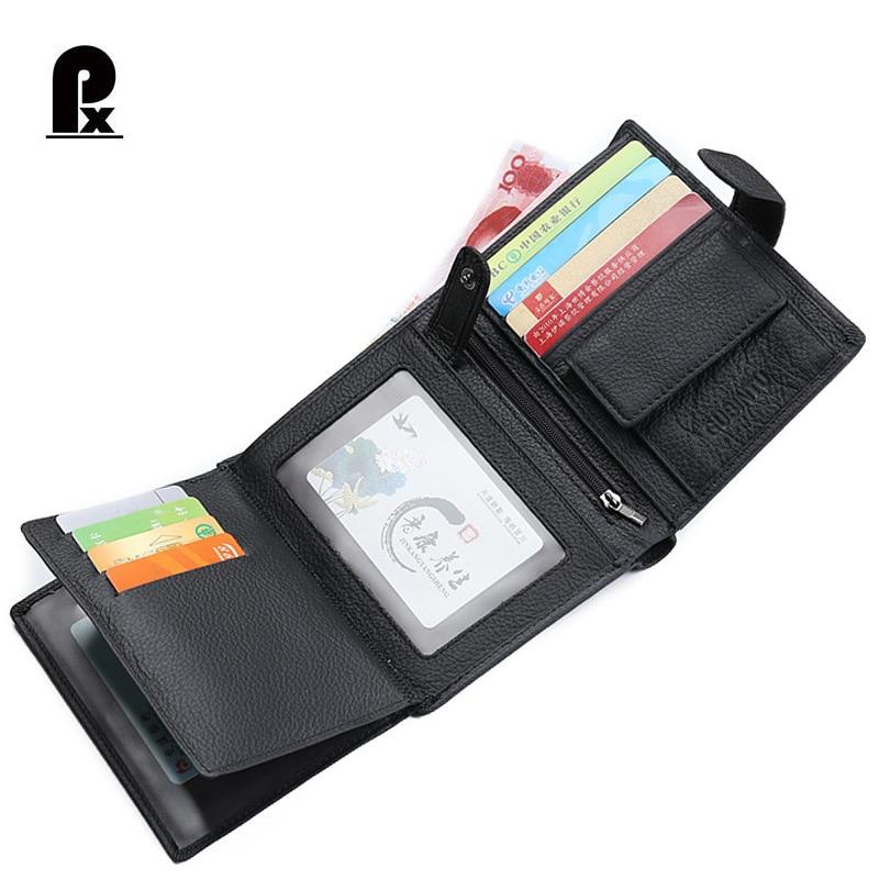 100%<font><b>genuine</b></font> Leather Men Wallets Luxury Brand Wallet Men Money <font><b>Clip</b></font> Passport Cover Male Purses Russia Cuzdan Carteira Masculina