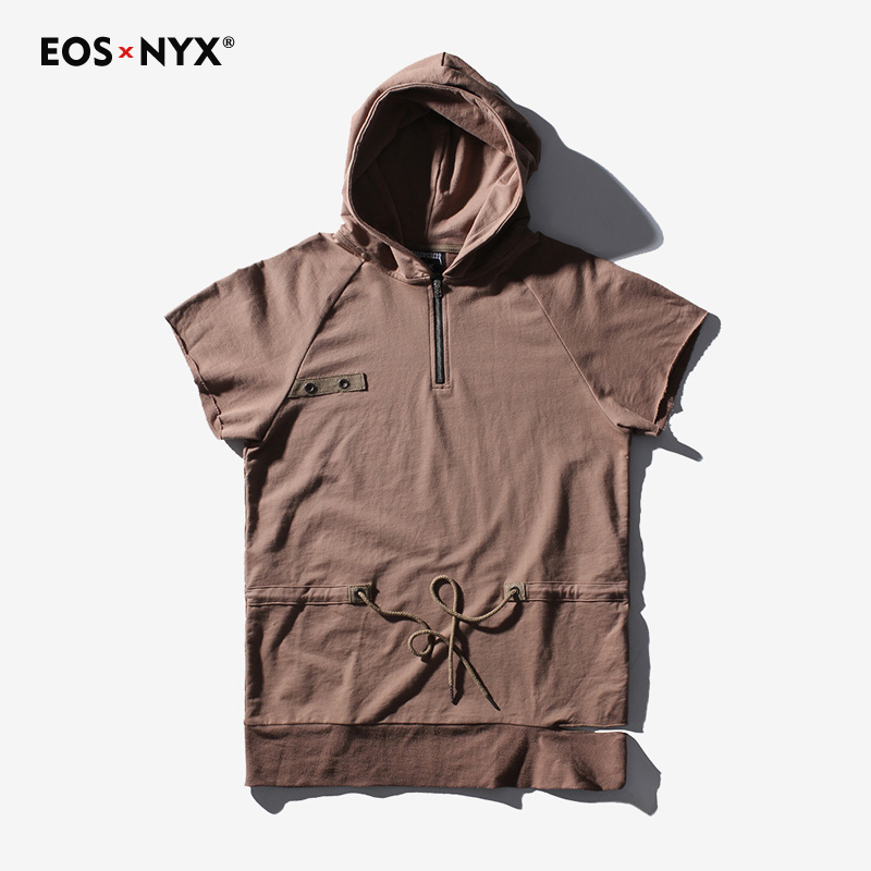 Eosnyx Hip Hop T-shirt Men Oversize Dj T Shirt Hoody Street Wear