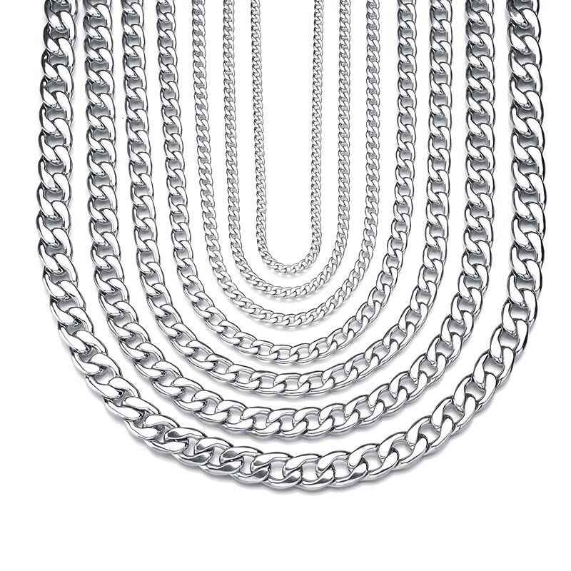 卸売ジュエリー-22 センチメートル 316L titanium 鋼ホワイトゴールドカラーチェーンブレスレットジュエリー No フェード異なるサイズ
