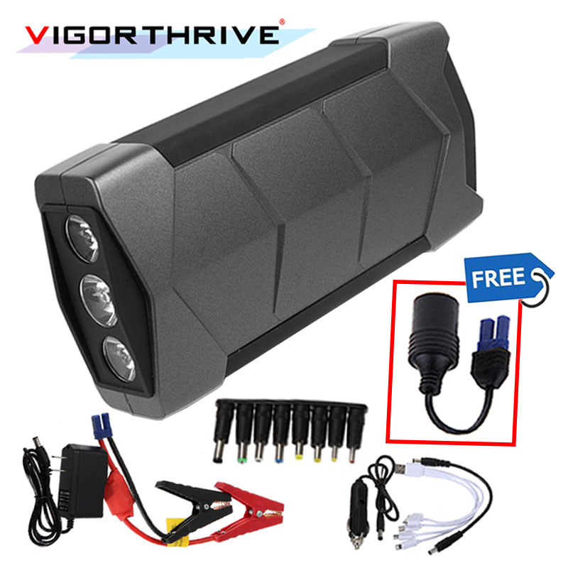 With Flashlight And Hammer For Car Starting Device Portable Toolbox 12V Mini Car Jump Starter Booster Battery Charger Power Bank