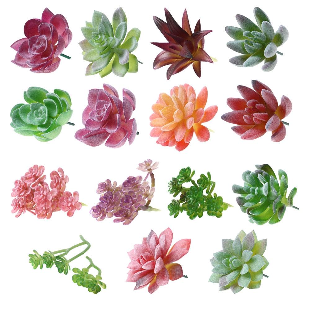 Artificial Succulents Plant Garden Miniature Fake Cactus DIY Home Floral Decors