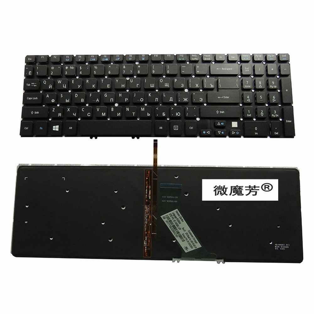 RU черный новый для ACER M3-581G 581PTG V5-531 V5-551 MS2361 клавиатура с русской раскладкой для ноутбука Подсветка