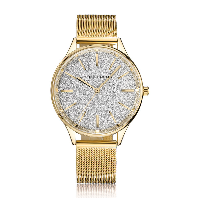Women Watches Top Brand Luxury MINI FOCUS Stainless Steel Mesh Band Gold casual Watch Ladies quartz watch Relogio Feminino bgg new famous top brand gold casual quartz watch women metal mesh stainless steel dress watches relogio feminino clock hot sale