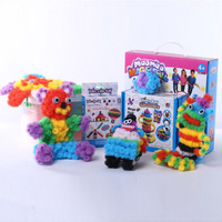 1200PCS Bunches Puff Ball Handmade Creative DIY Puzzle Toy Kids Gift Assembling 3D Puzzle Kits Educational