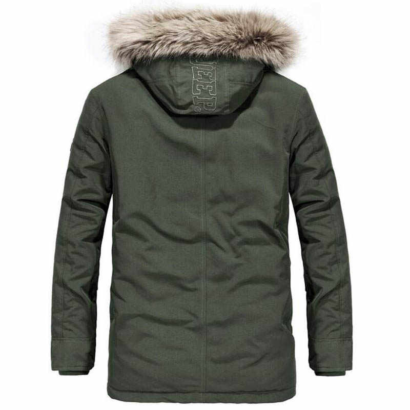 ジープ精神冬のジャケットの男性の 20 度暖かい厚手ダウンパーカーコートウインドブレーカー軍事ジャケット付き冬ジャケット
