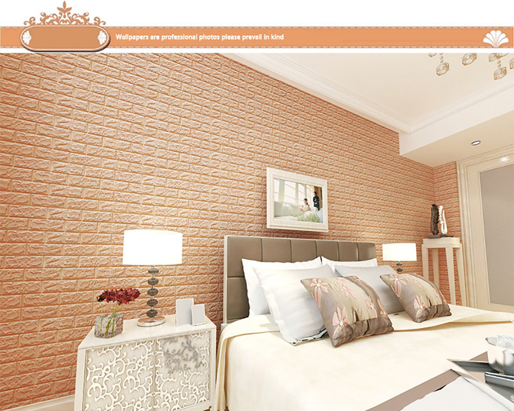 2017 home decor 3d brick wall sticker self adhesive foam