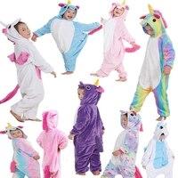 New Winter Children Kids Unicorn Pajamas Animal Pajama Sets Cartoon Pyjamas Rainbow Star Hooded Sleepwear Nightwear