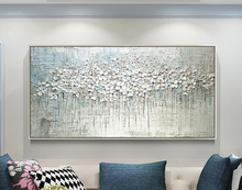 100% Handpainted Oil Painting on Canvas new Handmade knife flower oil Wall Art picture home decoration For Living Room