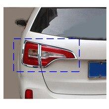 Di alta qualità per Kia Sorento 2013-2014 auto chrome trim fanale posteriore ABS del Bicromato di Potassio posteriore della parte posteriore dell'automobile della lampada telaio copertura telaio stampaggio 4 pz