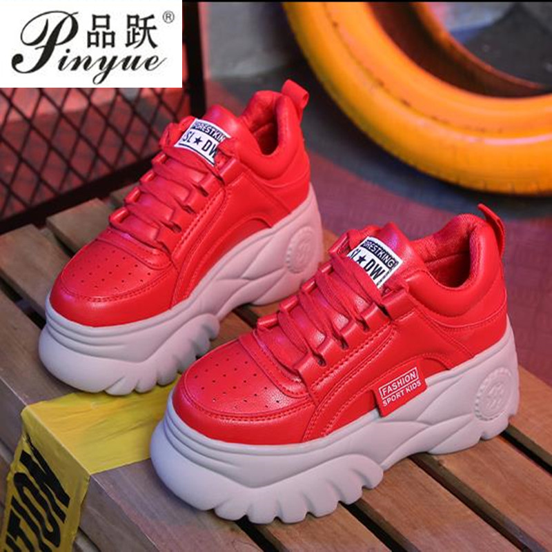 Women casual shoes 2019 New Thick bottom Sneakers Fashion Vulcanize Shoes Woman Leather Platform Shoes Women Chaussure FemmeWomen casual shoes 2019 New Thick bottom Sneakers Fashion Vulcanize Shoes Woman Leather Platform Shoes Women Chaussure Femme