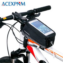 ACEXPNM Велоспорт велосипедный спорт велосипед сотовый телефон спереди рамки трубки сумка для хранения Паньер чехол держатель 5,7 «дюймо