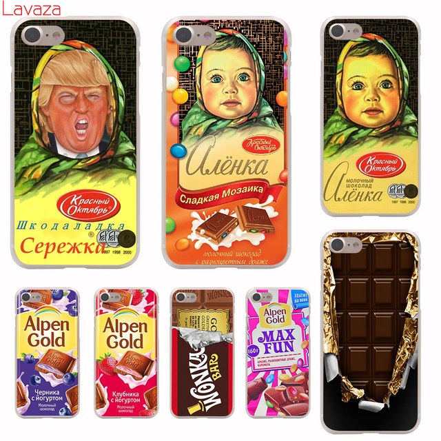 Lavaza alenka bar wonka chocolate Hard Phone Case for Apple iPhone 6 6s 7 8 Plus 4 4S 5 5S SE 5C Cover for iPhone XS Max XR Case