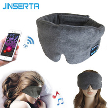 JINSRTA auricular inalámbrico con Bluetooth, máscara para dormir, cinta para la cabeza para teléfono, auricular blando para dormir, mascarilla para dormir, auriculares de música estéreo