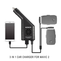 3 in 1 Remote Controller Charger with USB Dual Battery Car Charger for DJI MAVIC 2 PRO & ZOOM Drone