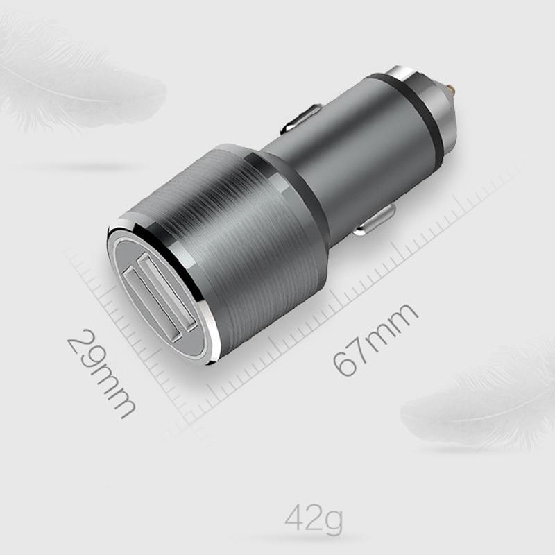 Cargador de coche USB dual Cargador rápido de aluminio universal - Accesorios y repuestos para celulares - foto 4