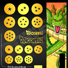 16pcs/set Dragon Ball Anime Stickers For Phone Laptop Waterproof Luxury 3D Metal Sticker DIY Children Toy