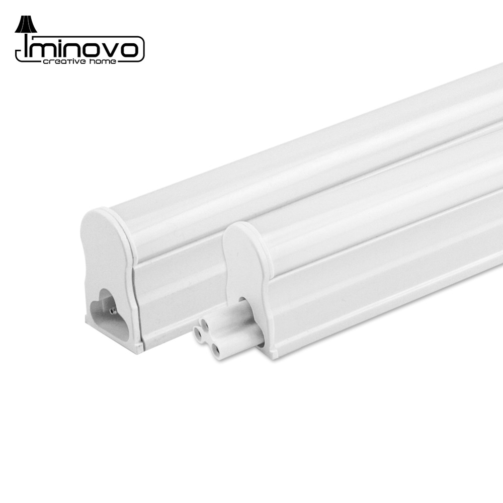 4 Pack LED T5 Tube Cold White Light T8 Bulb 30CM 60CM 1FT 2FTs Fluorescent Integrated Wall Lamp 110V 220V 240V 6W 10W rayway led tube t5 lights bulbac 85 265v 30cm 5w 1ft leds fluorescent lamp led wall lamps bulbs light pvc plastic 5pcs