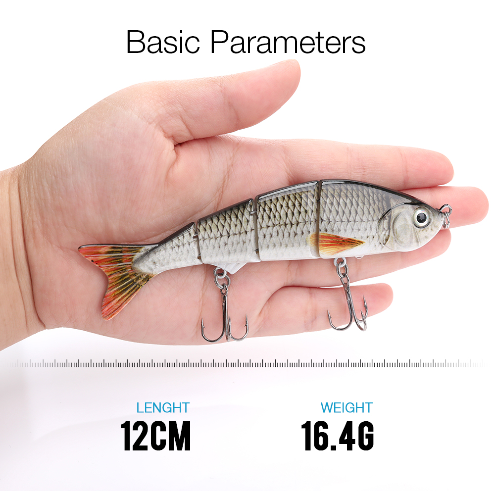 Image 2 - TREHOOK 12cm 16g Sinking Wobbler Fihisng Lure Hard Bait 4 Segments Jointed Artificial Bait for Sea Fishing-in Fishing Lures from Sports & Entertainment