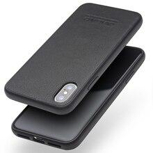 QIALINO sac mince en cuir véritable étui pour iPhone XS/10 couverture de téléphone Ultra mince de luxe pour iPhone XS pour 5.8 pouces