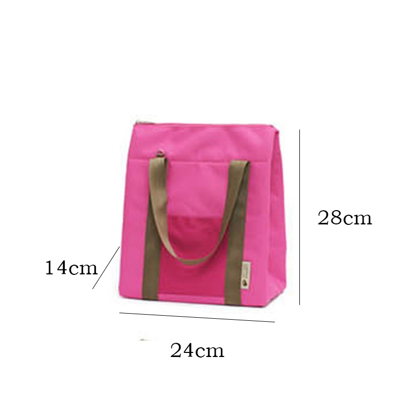 Women Portable Canvas Lunch Bag Cooler Insulated Thermal Crossbody Bag Lunch Box