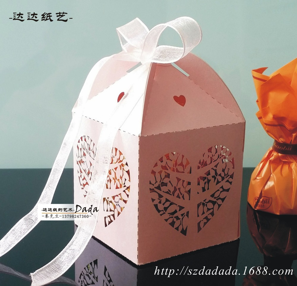 DD Outlet wedding candy box personalized laser hollow chocolate box ...