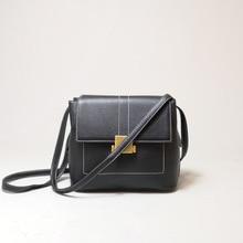 Genuine Leather Fashion Satchel Bag Ladies Vintage Tote Bag Single Shoulder Bag Luxury Handbags Women Bags Designer Falp Handbag