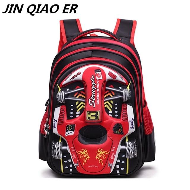 7e7e2eac4a Children Cartoon 3D Car School bags boys girls Primary school Backpack kids  Kindergarten backpack Schoolbags Mochila Infantil