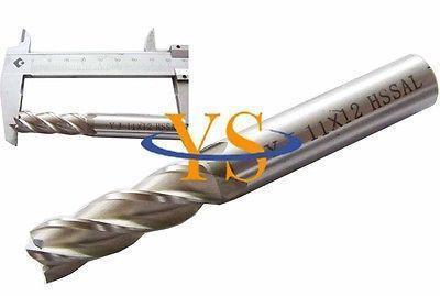 5pcs 4 Flute 11MM X 12MM Shank HSS End Milling Cutter CNC Milling Lathe