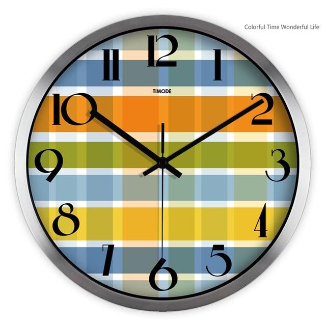 esigned Wall Clock Metal Modern Design Montre Zegar Home Decor Klok ...