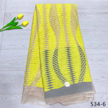 High Quality 2019 Tulle sequins lace French Nigerian Lace Fabrics Embroidered Guipure African Lace Fabric 534 african sequins lace fabric 2019 high quality lace material french lace fabric nigerian tulle mesh lace fabrics 24color 1101